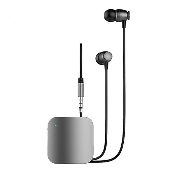 Tragbare Kopfhörer Mini-Clip auf Stereo-Headset Wireless Bluetooth-Kopfhörer mit Mikrofon Hand frei Audio Receiver Adapter 3,5 mm