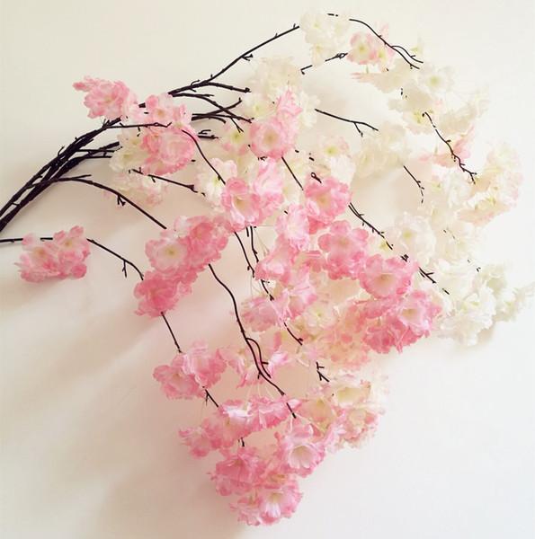 100 stücke Gefälschte Kirschblüte Blume Zweig Begonie Sakura Baumstamm 150 cm Lange für Event Hochzeit Künstliche Dekorative Blumen