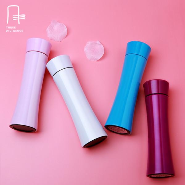 Taza de vacío con aislamiento térmico Botella de agua con filtro Jingdezhen de acero inoxidableSlim cintura con matraz recto Taza de viaje