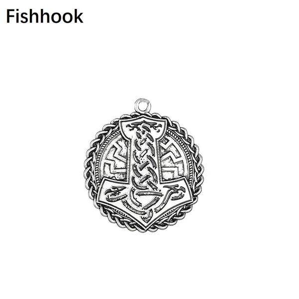 Fishhook Vintage Nordic Mythology Thor's Hammer Seals Irish Knot Charms Wiccan DIY Men's Necklaces & Bracelets Jewelry Making
