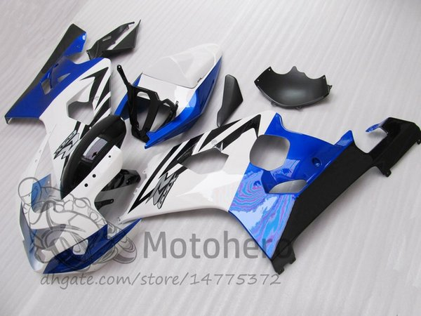 HOT ITEM Fairing kits FOR SUZUKI GSXR750 2004 2005 K4 K5 GSXR 750 04 05 #776FF GSX-R750 White black blue fairings free gifts