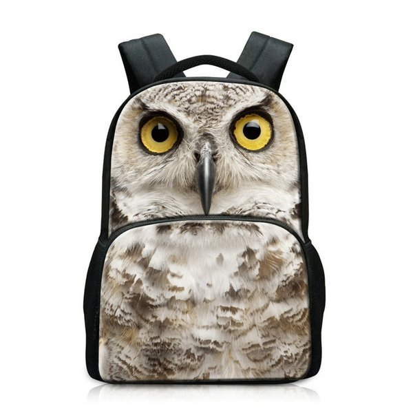 New 3D Animal Pattern College Students School Back pack Children Schoolbag Casual Travel Bagpack Bookbags With Laptop Compartment Holder