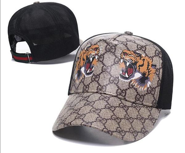 Yılan Kap Kaplanlar Snapback Beyzbol Kapaklar Eğlence Lüks deri Şapka Arı Snapbacks Şapka erkekler kadınlar için açık golf spor şapka casquette
