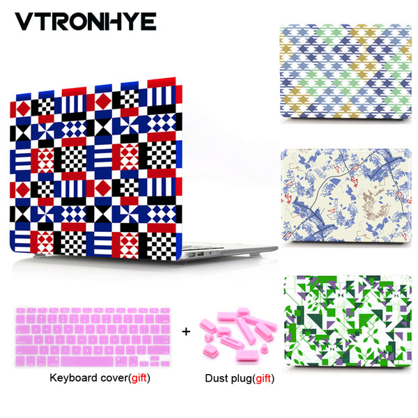 Geometric series Laptop Case For Macbook 12 inch Pro 13 15 Retina 13 15 Air 11 13'' New For Macbook Pro 13 15 with Touch bar