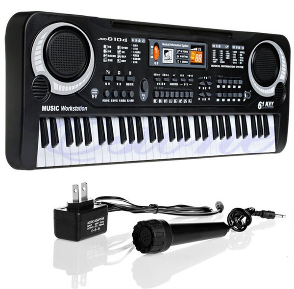 best selling Children Electric Piano Organ 61 Keys Music Electronic Keyboard Key Board For Kids Chrismas Gift US plug
