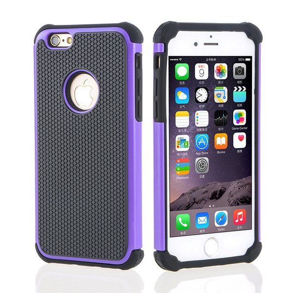 Protective for iphone 7 plus case 3in1 football grain honey comb heat dissipation robot phone case for Samsung mobile case