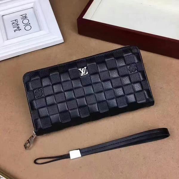 2019 M2244 NEW Men Brand Long Wallet Zipper Clutch Purse Card WALLETS PURSE Mini Clutches Exotics EVENING CHAIN Belt Bags