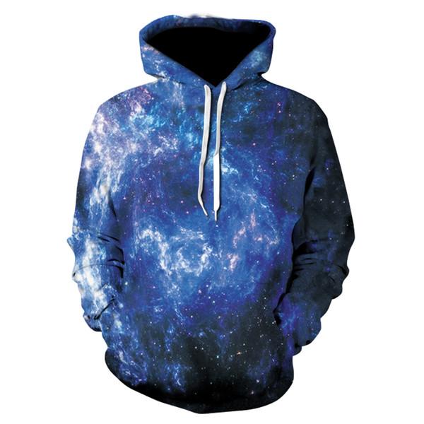 Felpa con cappuccio Galaxy Space Uomo / Donna Felpa con cappuccio 3d Brand Abbigliamento Cap Stampa Paisley Nebula Jacket