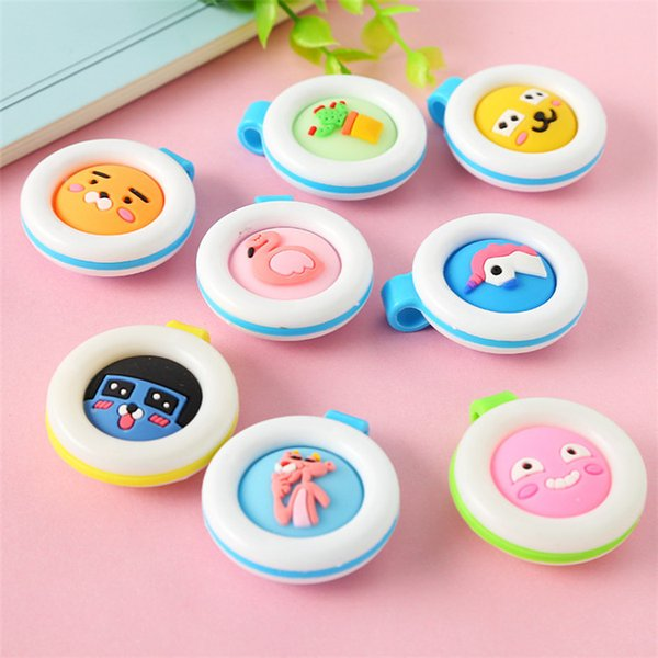 top popular Portable Anti-mosquito Button Cute Cartoon Mosquito Repellent Clip Adults Kids Summer Non-toxic Mosquito Repellent Buckle T3I0281 2019