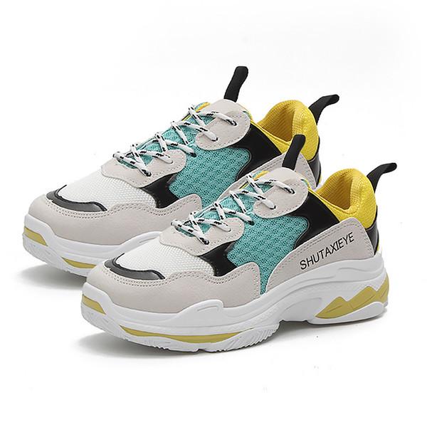 Frauen Turnschuhe Neue Mode Frauen Casual Luxus Schuhe Trends Ins Weibliche Weiße Wohnungen plattform Frühling Sommer Lace Up Größe 35-40