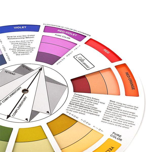 10pcs tattoo pigment color wheel mix round nail polish gel palette wheel  paper card eyebrow lip