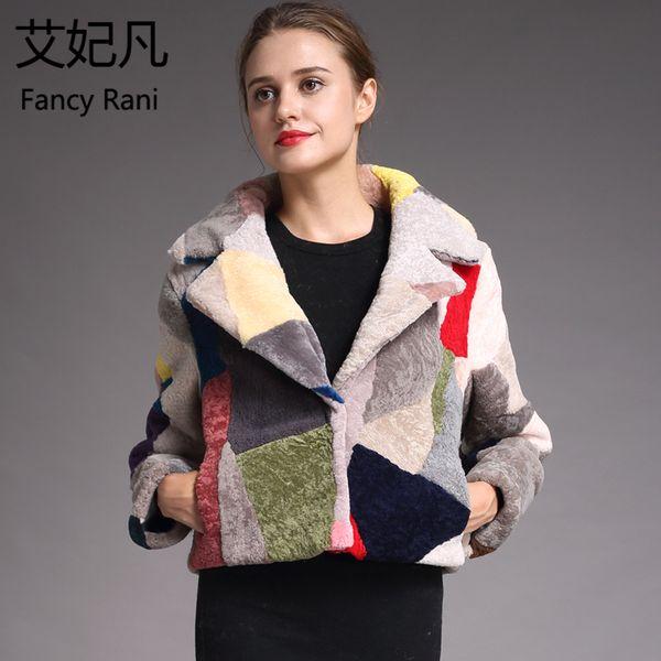 Fashion Genuine Sheepskin Fur Coats for Women Winter Warm Wool Coat Female Noble Patchwork Warm Sheep Shearing Jacket Outwear D1892602