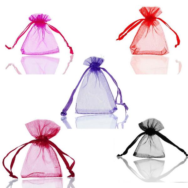 LASPERAL 125PCs multi colore piccolo organza sacchetti regalo Oganza sacchetto con coulisse per gioielli imballaggio di stoccaggio sacchetto dell'involucro del regalo 5x7 cm