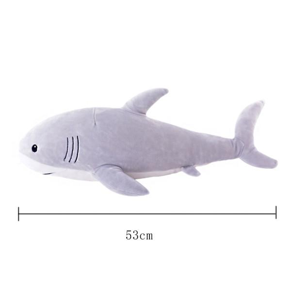 """toy Plush Ocean Cartoon Shark Toys Cute Pillow Super Soft Stuffed Animal Shark Dolls Best Gifts for Kids Friend Baby 21"""""""