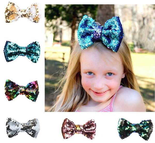 Yeni Moda Sevimli Bebek Pullu Yay Saç Klip Pretty Tokalarım Saç Aksesuarları Çocuk Hediyeler Ücretsiz Kargo