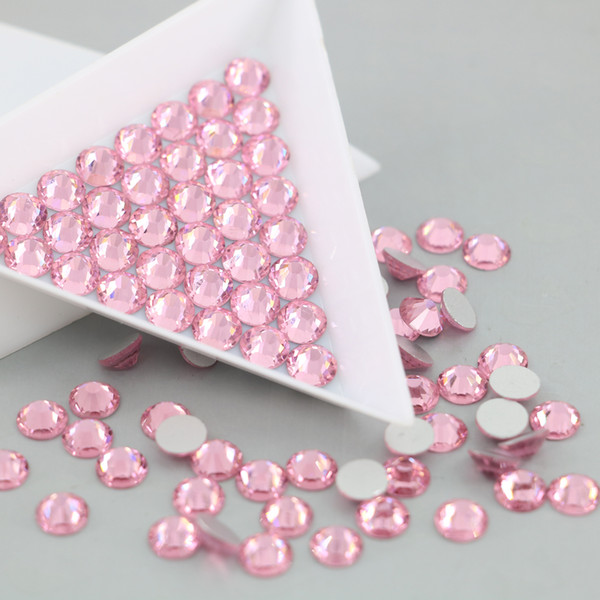 All Size Flatback Stone For Nail Art Non Hotfix Rhinestone Crystal and Stones decorations accessories (Lt.Rose)