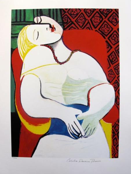 Pablo Picasso Art- Retrato Pintado a mano Decoración de pared Arte Pintura al óleo Colección de Navidad envío gratis. Varios tamaños / Opciones de marco, Rp191 #