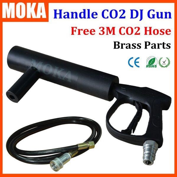 МОКа МК-C07A поручень СО2 пистолет DJ в + 3 метра шланга СО2 струя машина DMX этап эффект СО2 струя машина Бесплатная доставка