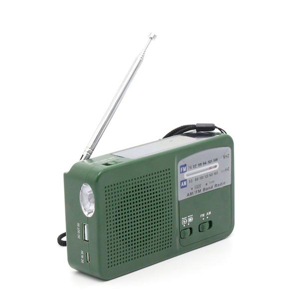 Solar Radio+Emergency Power Bank Solar Hand Crank Flashlight Electric Torch Dynamo Bright LED Lighting Lamp AM/FM Band Q0836