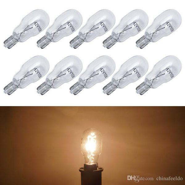 wholesale 10pcs/box Warm White Car T13 Wedge 12V 10W Halogen Bulb External Halogen Lamp Replacement Dashboard Bulb Light #1309