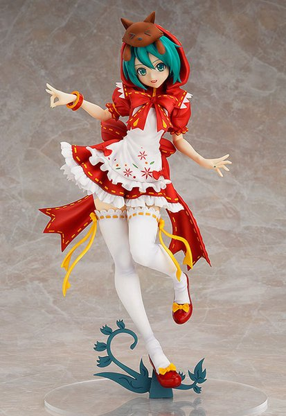 23cm Red Hat Hatsune Miku Anime Collectible Action Figure PVC toys for christmas gift with retail box
