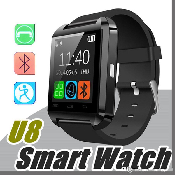 Bluetooth Smartwatch U8 DZ09 Smart Watch for iPhone 6/puls/5S Samsung S4/Note 3 HTC Android Phone Smartphones Android Wear A-BS
