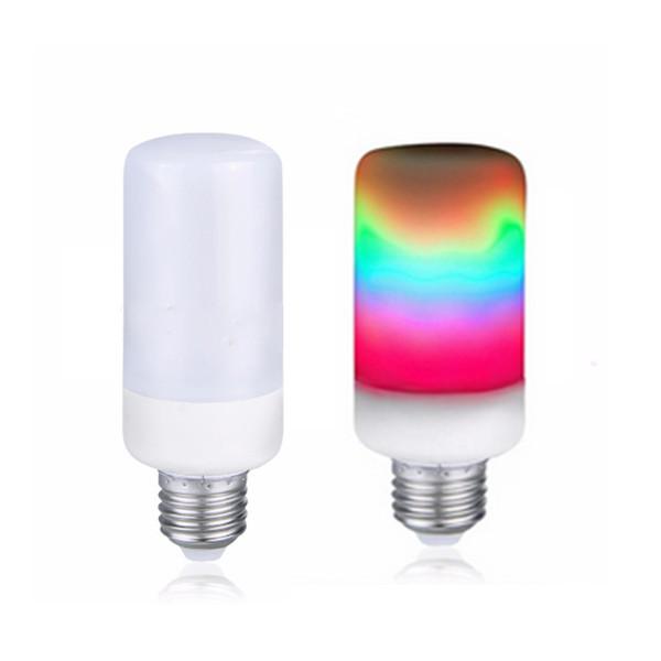 Colorful 3 MODES LED Flame Effect Lamps E27 E26 E14 E12 B22 2835 SMD LED Fire Bulb Flicker Light 85-265V Rainbow LED Lampada