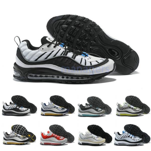 2019 nuevo 98 OG zapatillas para hombre Gundam Tour White 98 GS botas de aire para mujer de calidad superior barato 98s zapatillas de deporte tamaño 36-45