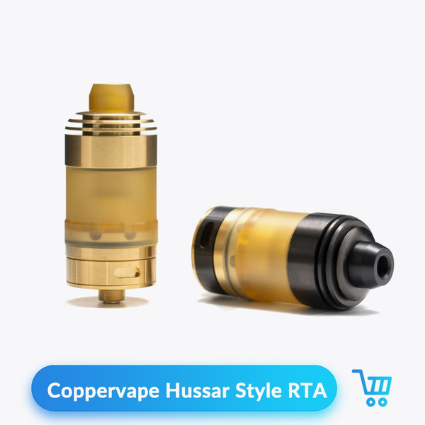 Coppervape Hussar Style RTA Atomizer Vape Tank for 510 Thread Adjustable Airflow Control E Cigarettes Rebuildable Atomizer