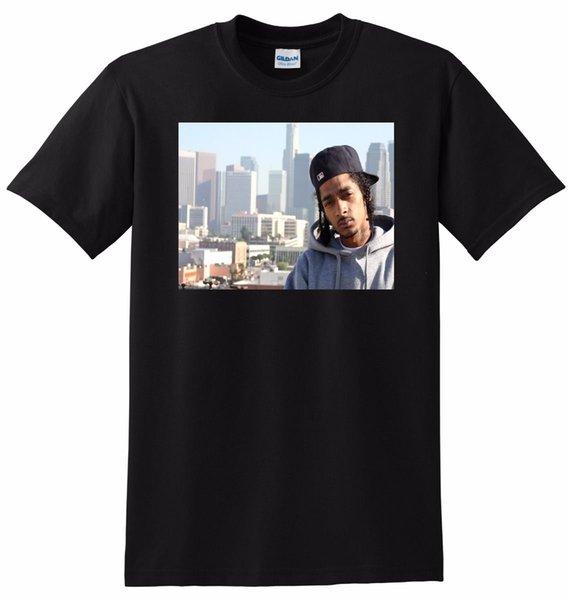 NIPSEY HUSSLE T SHIRT rapper photo poster tee PEQUEÑO MEDIO GRANDE o XL Camiseta cómoda Casual Manga corta Estampado 100% Algodón