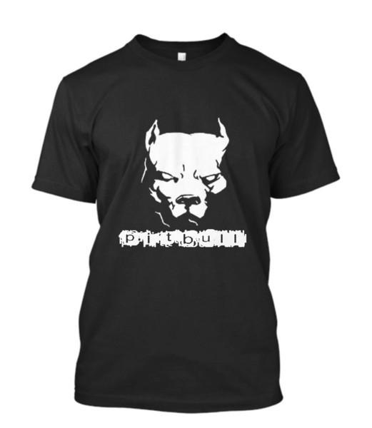 New Pitbull American Pit Bull Spiked Hundehalsband Herren T-Shirt Größe S - 3xl Männer T-Shirt 2018 Mode Top Tee Billig Verkauf