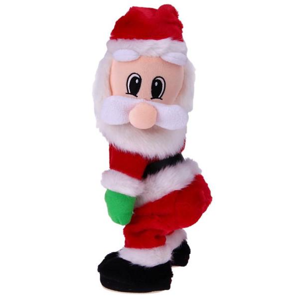 2018 New Christmas Electric Twerk Santa Claus Toy Music Dancing Doll Xmas navidad Gift Christmas Gifts Toys decoration