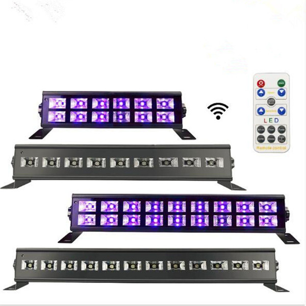 Remote Control 7 Mode 24LED UV LED Black Light Bar UV LED Stage Light Wall Washer Lighting for Christmas Halloween Disco DJ KTV Club Party