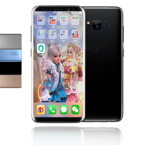 """Goophone S8 plus Quad core 1G/4G 6.2"""" IPS 3G Android phone MTK6580 Can Show 4G/128G Fake 4G LTE GPS WIFI"""