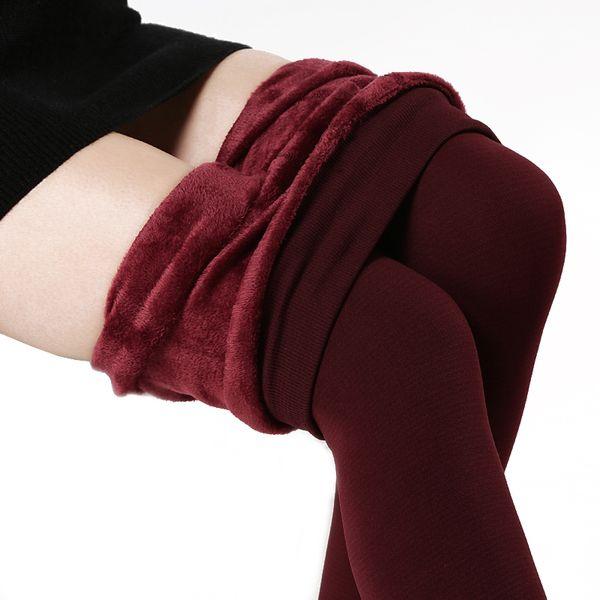 Windreama Thicken Velvet Leggings Plus Size High Elastic Waist Winter Women Warm Pants Good Quality Thick Trousers Female 220