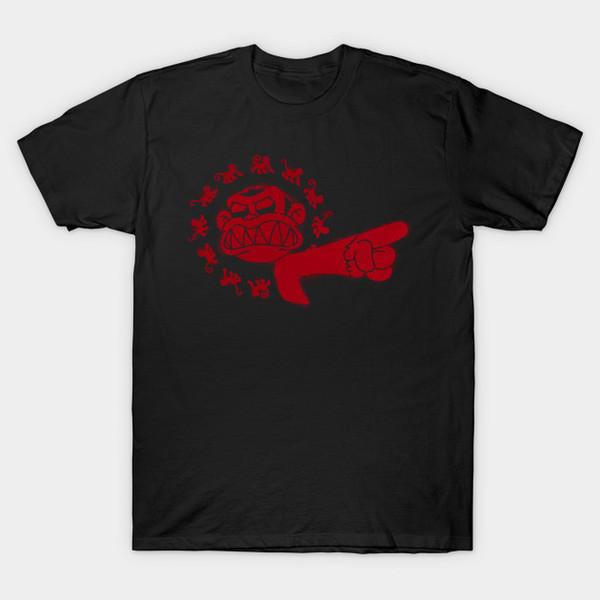 12 Evil Monkeys (red ink) T-Shirt
