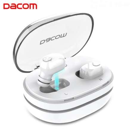 DACOM K6H Kulak Buds Mini Kablosuz Kulaklıklar Ikizler Gürültü Iptal Kulaklık Bluetooth Kulaklıklar 4.2 Cep Telefonu için Handsfree ile
