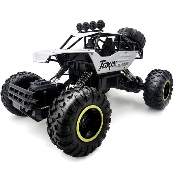 1:12 4WD Cars 37cm Gold Alloy 2.4GHZ LED Light Radio Control RC Trucks Model High Speed Trucks Off-Road Toys for Children