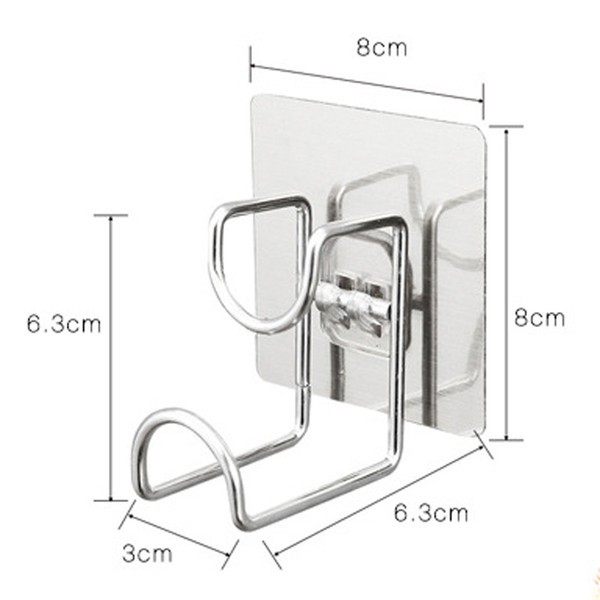 1Pcs Strong Storage Rack Self-Adhesive Stainless Steel Racks Basin Towel Chopping board Hangers Bathroom Kitchen Organizers