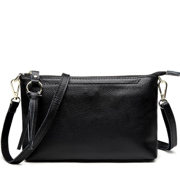With Good Gifts!2018 New Women's Genuine Leather Bag Small Bags Women Messenger Bags Handbags Women Famous Brand Female Bag