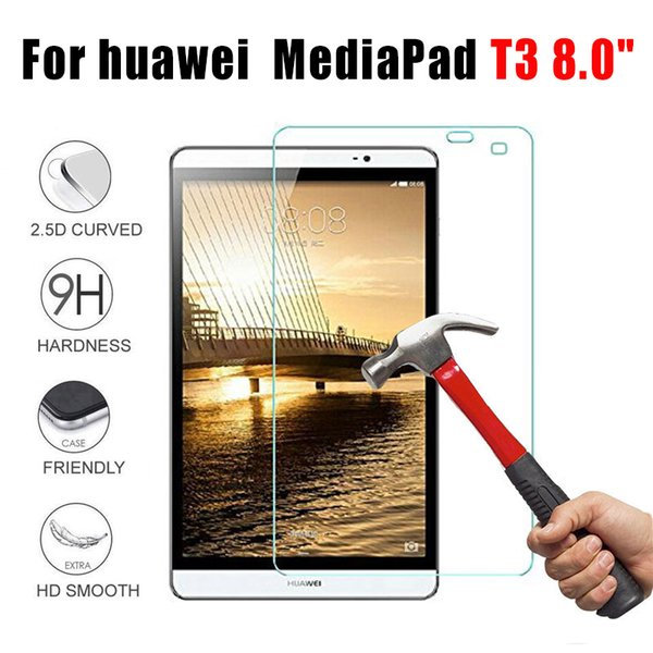 top popular protective glass for huawei mediapad t3 8.0inch for huawei mediapad t3 8.0 glass tempered tablet screen protector 9h film glas 2019