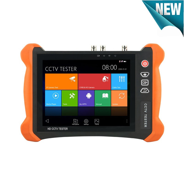 New 8 inch 2K IPS Touch screen 6 In 1 CCTV Tester Monitor H.265 4K H.264 IP 8MP TVI 8MP CVI 5MP AHD 2MP SDI Analog CCTV Tester