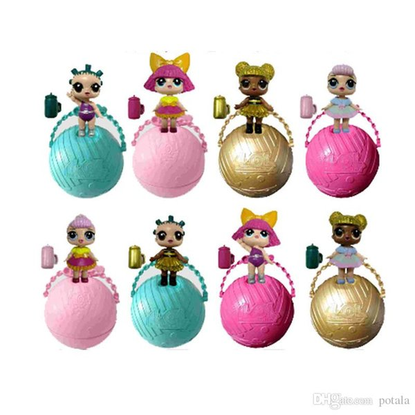 Doll Series 2 LiL Sisters Action Figures 7.5CM Ball Doll Dress Up Baby Spray Water Doll Toys for Kids Xmas Halloween Classic Gifts Box Pack