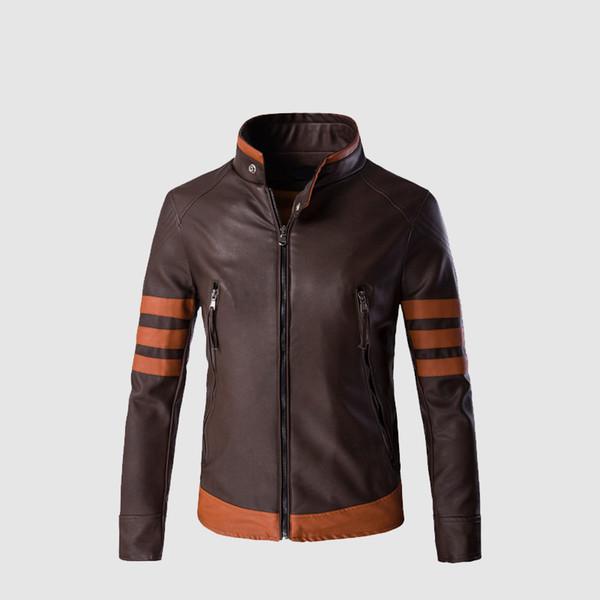 Mens Leather Jackets Men Faux Fall Winter Coats Punk Motorcycle Biker Male Suede Jacket Windbreaker Bike Riding Coat