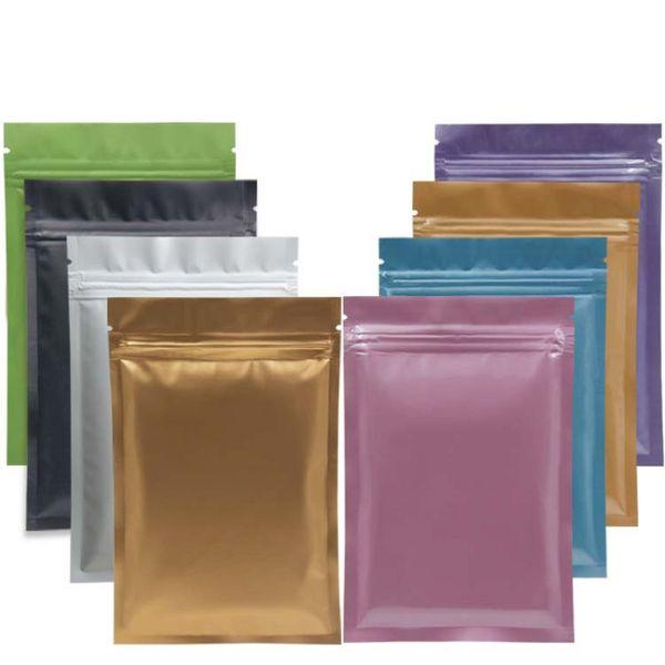 Mylar de papier d'aluminium Recloeable Ziplock Bag Sac en plastique plat Odeur thermoscellable Odeur de fuite Emballage Sac de café Enveloppes en papier d'aluminium Sac à outils