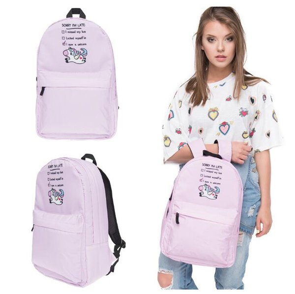 Best price selfdesign unicorn animal 3D printed backpack travel backpack European American cartoon pattern women school bags