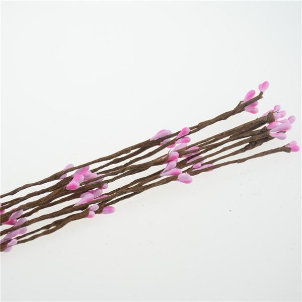Fashion 100pcs 40cm Artificial Flowers Berry Stem for Canes Bracelet Crown Floral Arrangement Crafts Decoration Material DIY Wreath