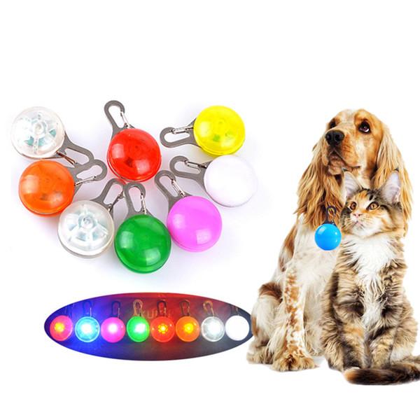Pet Led Light Dog Cat Waterproof Dog Illuminated Collar Safety Night Walking Lights ID Tags Pet Dog Pendants Flashing Led Collar Free Ship