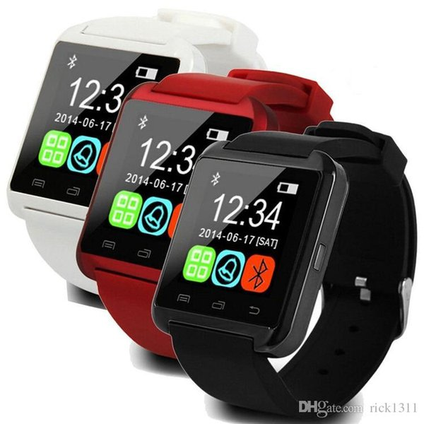 U8 Smart Watch Smartwatch Wrist Watches with Altimeter and motor for iPhone 7 6 6S Plus Samsung S8 Pluls S7 edge Android Apple Cell Phone US