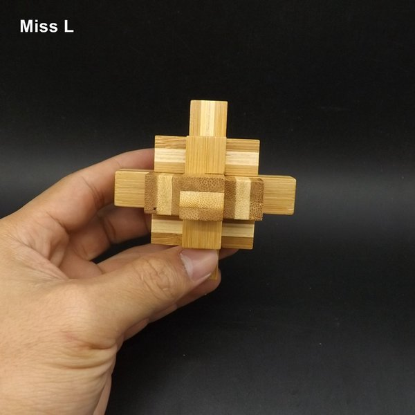 Kong Ming Lock Bamboo Puzzle Children Funny Game Toy Educational Toy For Children Kong Ming Lock Educational Toys Interactive Game